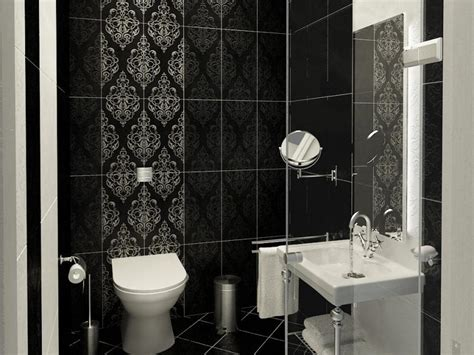 cozy contemporary small bathrooms  stylish wallpaper