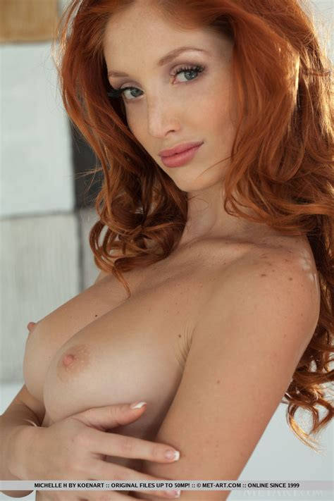 Michelle H Nude In Superb Redhead Hottie Michelle H Gets All Naked At Metart Hunter