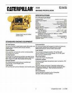 Caterpillar 3500 Engine Manuals  Spec Sheets