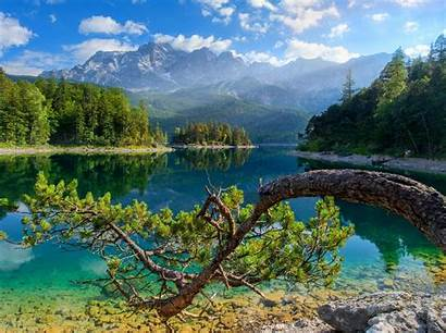 Germany Summer Nature Mountain Lake Landscape Water
