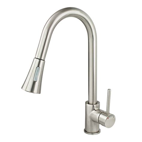 new kitchen faucet brushed nickel pull out dual spray