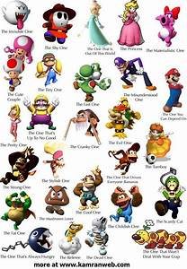 Mario characters | Kinder Play Ideas | Pinterest ...