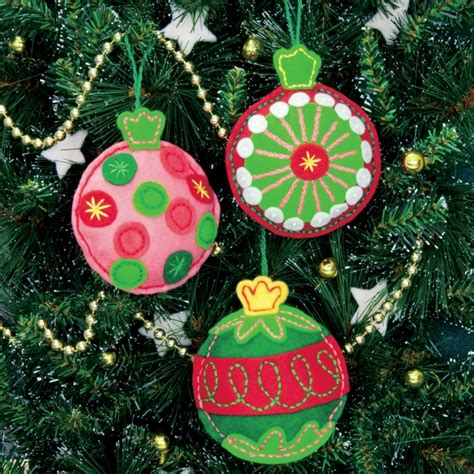 simple cheer felt christmas ornaments kit felt craft