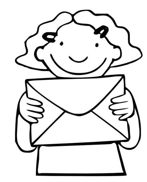 Kleurplaten Kleding Peuters by Thema Post Postbode Kleurplaat Post