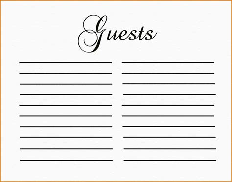 guest book template authorization letter