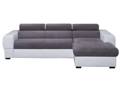 canape angle conforama conforama canapé d 39 angle droit convertible 5 places tresor coloris gris tous les produits