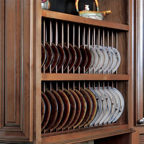 Cabinet Accessories   Pre Assembled Plate Display Rack Kit