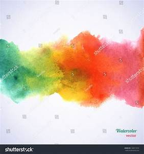 Watercolor Rainbow Border Vector Illustration Grunge Stock ...