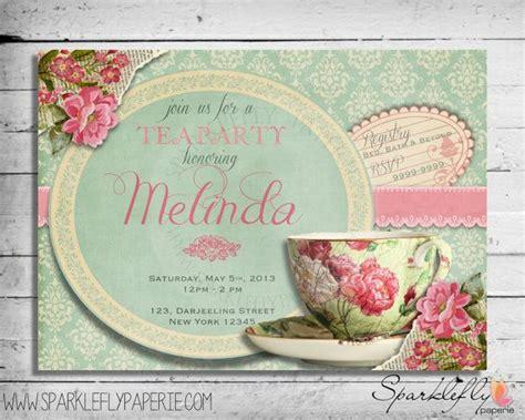 vintage tea cup bridal shower baby shower birthday