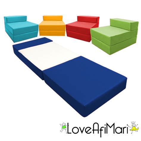 folding foam chair bed child childrens fold out guest z bed sofa chair sleepover