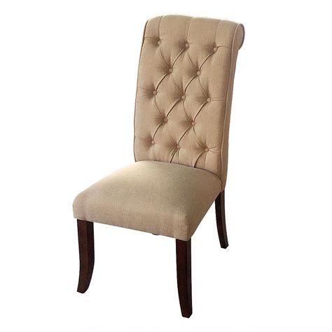 fabric high back dining chairs 2 sets beige soft fabric cushioned dining chair seat with 8899