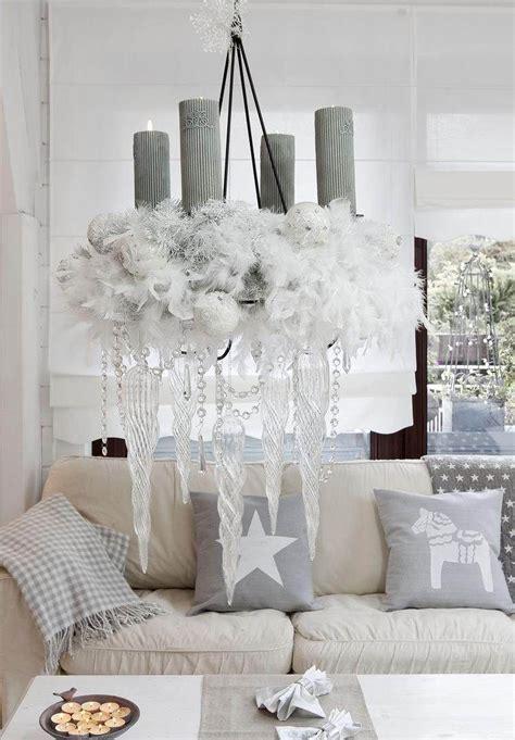 Weihnachtlich Dekorieren Wohnzimmer weihnachtsdeko in grau und wei 223 f 252 r eine luftige