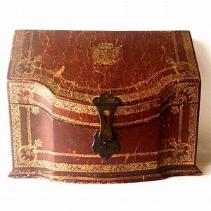 Antique italian leather letter box from for Antique letter box