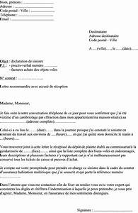 Lettre Declaration Sinistre : mod le de lettre de d claration de sinistre pour l assurance suite au cambriolage d un logement ~ Gottalentnigeria.com Avis de Voitures
