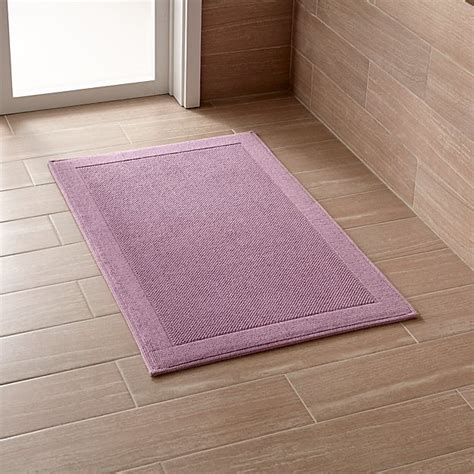 westport purple bath rug crate  barrel