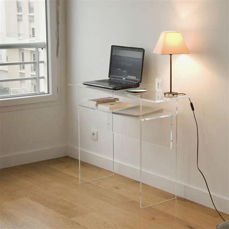 bureau gain de place pas cher bureau console plexiglass