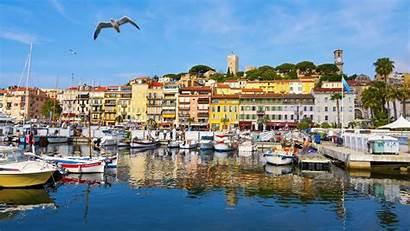 Cannes France Port Vieux Le Background Suquet