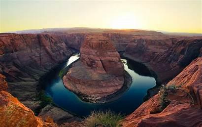 Arizona Horseshoe Bend Wallpapers Usa States United