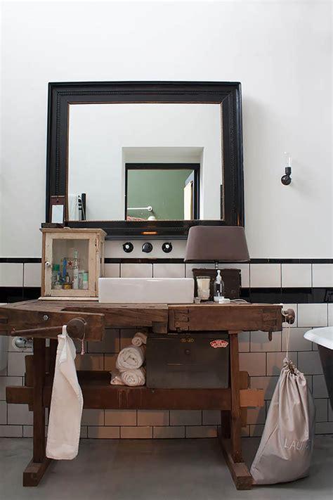 creative  originale salle de bain au design industriel
