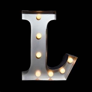 marquee light letter 39l39 led metal sign 10 inch battery With letter l light
