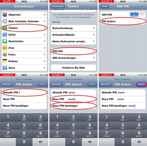 Pin Sim Karte ändern