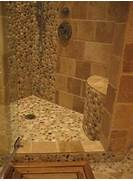 Photo Stone Tile Bathrooms Island Stone Pebble Bathroom Design Modern Bathroom Tile
