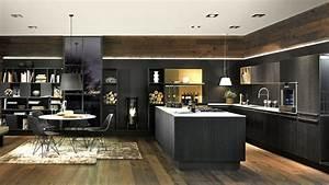 Cuisine Équipée Noir : cuisine equipee noir neo chalet elton elton ~ Melissatoandfro.com Idées de Décoration