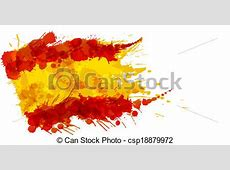 Vectors Illustration of Spanish flag made of colorful