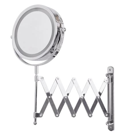 Extending Bathroom Mirrors by Extending Led Illuminated Bathroom Make Up Cosmetic