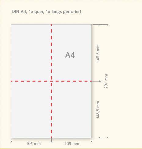Fliesen Quer Oder Längs by Perforiertes Papier 1 X Quer 1 X L 228 Ngs Teilt A4 Blatt