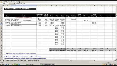 vat return spreadsheet template  business