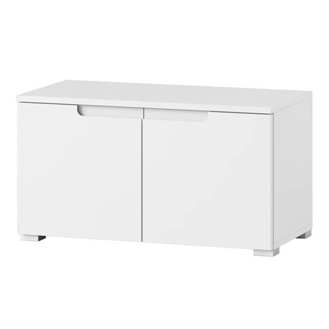 White High Gloss Cupboard by Cellini White High Gloss 2 Door Low Hallway Storage