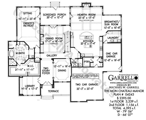 manor house plans mon chateau manor house plan house plans by garrell associates inc