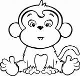 Monkey Coloring Pages Cartoon Clipartmag sketch template