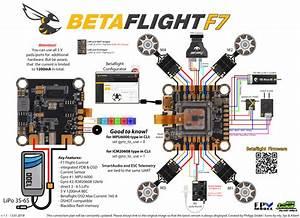 Betaflight F7 Flight Controller Anschlussplan    Wiringplan