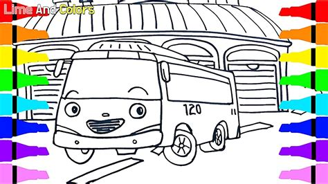 tayo   bus toy drawing coloring  kids children