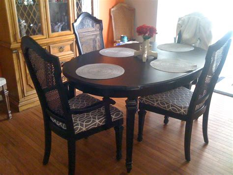 diy refinishing a dining room table