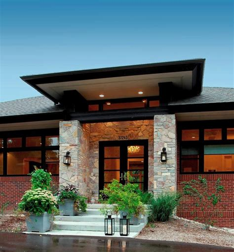 prairie style homes prairie style home contemporary entry detroit by