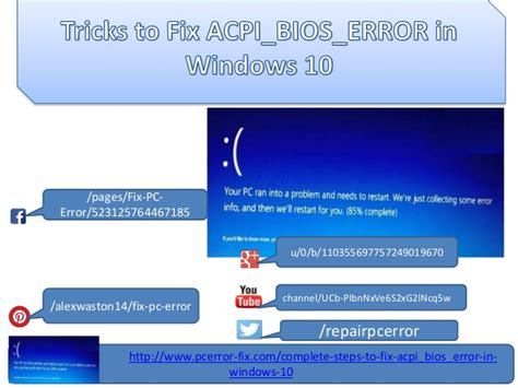 fix acpi bios error in windows 10