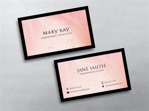 mary kay business cards  imagenes plantillas