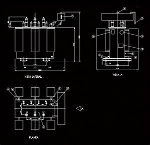 Three Phase Transformer 2000kva In Autocad