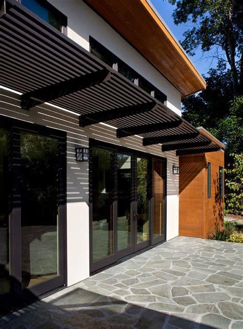 trelllis  rear doors door canopy modern modern outdoor patio modern pergola