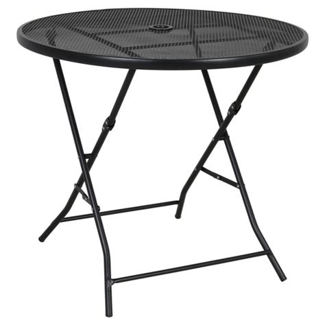 metal mesh top patio table 32 quot metal mesh folding table room essentials target