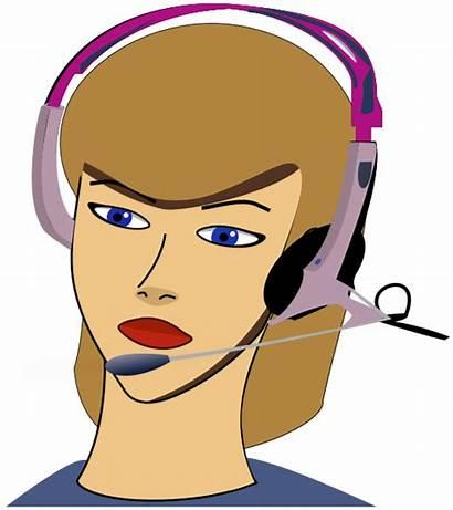 Call Center Agent Clipart Computer Cartoon Working