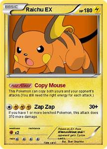 Pokémon Raichu EX 171 171 - Copy Mouse - My Pokemon Card