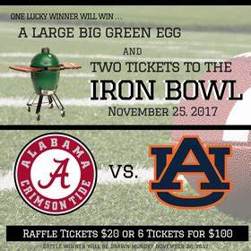 Raffling Tickets Iron Bowl Raffle For Dale Burgess November 22 2017