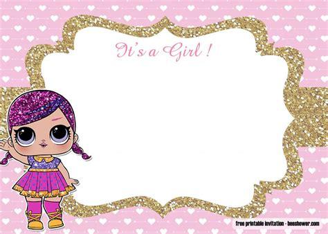 lol dolls baby shower invitations templates