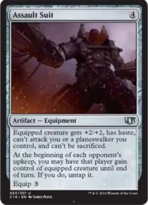 assault suit commander cards mtg magic artifact card sphere creature equipment haste gathering asuit singles mill release notes turn c14