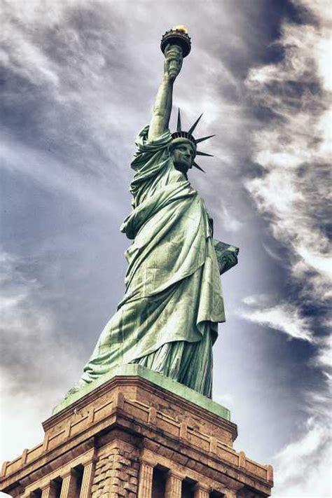 wallpaper  statue liberty architecture  hd