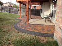 best existing concrete patio design ideas Multicolored paver patio installed around an existing ...
